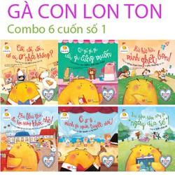 Sách - GÀ CON LON TON combo bộ 6 cuốn v1