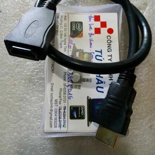 Cáp nối dài HDMI: 20 Cm - Đầu đực ra đầu cái