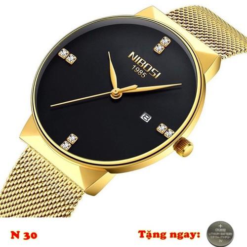 Đồng hồ nam NIBOSI 1985 dây thép lưới N30