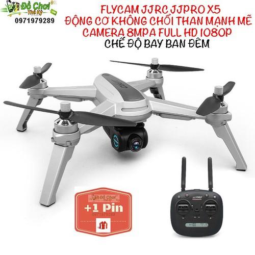 BỘ 2 PIN - Máy bay flycam JJPRO X5 - 2 GPS - CHẾ ĐỘ BAY ĐÊM
