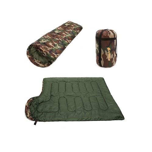 Bộ túi ngủ quân đội du lịch xếp gọn có túi tiện lợi