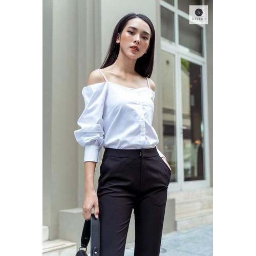 De Leah - Áo Hở Vai Tay Bồng - Thời trang thiết kế