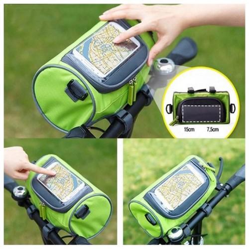 CP[P5029] Túi đeo treo xe đạp để điện thoại dò Map, túi chống nước mưa