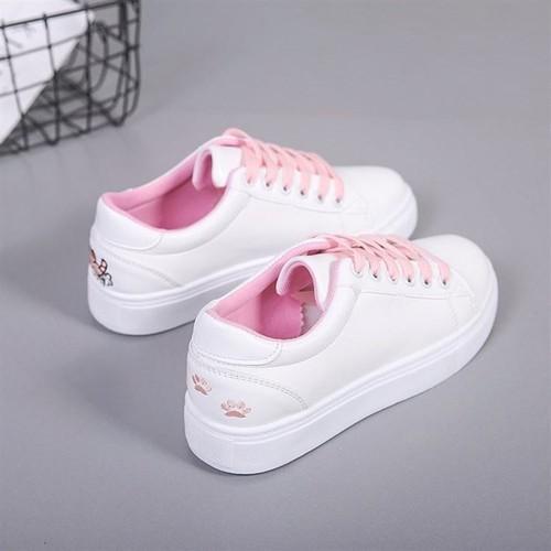 Giày sneaker nữ gót thêu mèo dễ thương -GTTG25