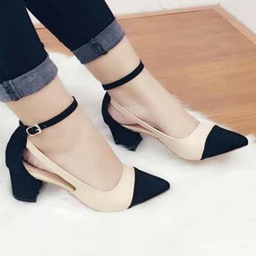 giày cao gót đế vuông size nhỏ size lớn 33 34 40 41 42 43