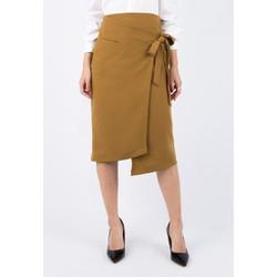 De Leah - Chân Váy Midi Nơ Eo - Thời trang thiết kế
