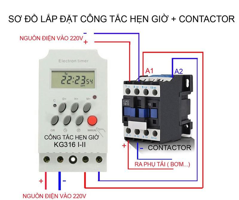Công tắc hẹn giờ KG316 T-II hẹn giờ bật tắt thiết bị điện - Tây