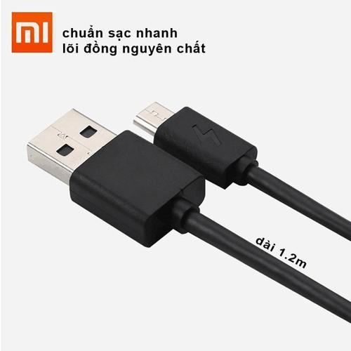 Cáp sạc nhanh 2A điện thoại Xiaomi hàng nhập khẩu