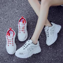 Giày ulzzang nữ vạch sóng 2 màu đen đỏ cá tính mẫu mới 2019