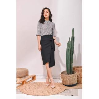 De Leah - Chân Váy Midi Nơ Eo - Thời trang thiết kế - Z1820031D thumbnail