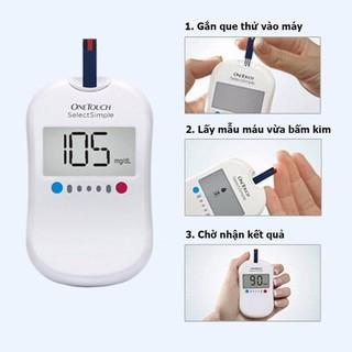 Máy đo đường huyết One Touch Select Simple-TĂ NG nhiê t kê [Y TÊ ĐƯ C ANH] + 1 hộp que thử + 25 kim - One Touch Select Simple thumbnail