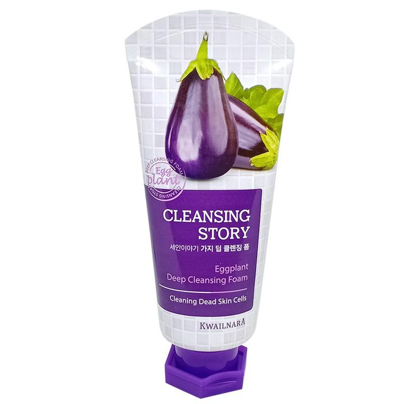 Sữa Rửa Mặt Cà Tím Kwailnara Eggplant Deep Clearing Foam 120ml 1