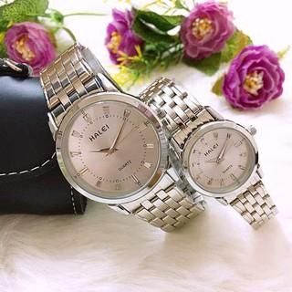 Đồng hồ cặp đôi dây thép Halei Sliver platium sang trọng - HL13 thumbnail