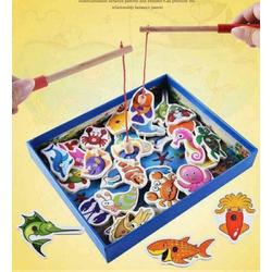 Bộ đồ chơi câu cá gỗ nam châm