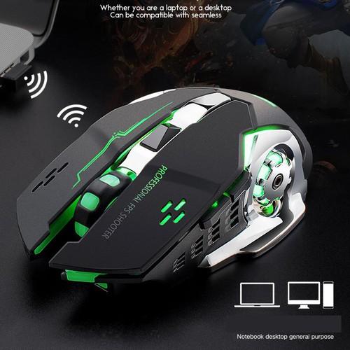 Chuột không dây chuyên game pin sạc Free Wolf X8 Led 7 màu