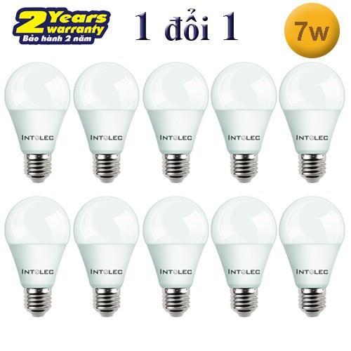 Bộ 10 bóng đèn Led Búp INTELEC 7W