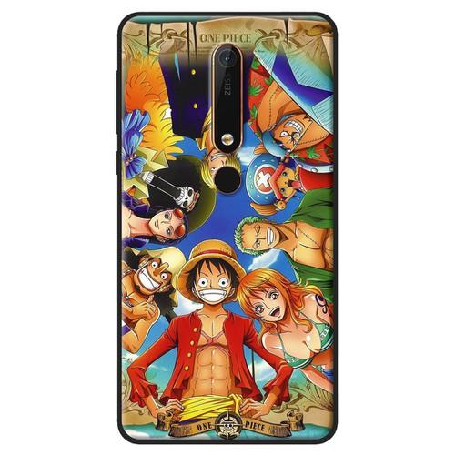 Ốp lưng nhựa dẻo Nokia 6 2018 One Piece chụm đầu