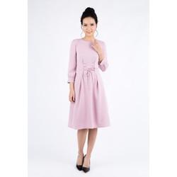 De Leah - Đầm Xoè Tay Lỡ Dây Nơ Eo - Thời trang thiết kế
