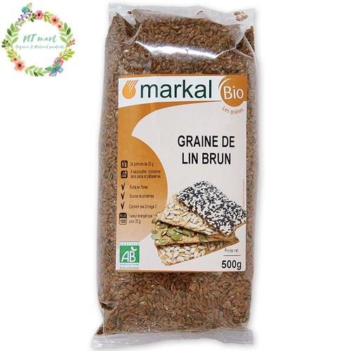 Hạt lanh nâu hữu cơ Markal 500gr
