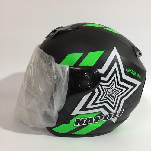 Mũ bảo hiểm phượt chính hãng Napoli N039 tem mới