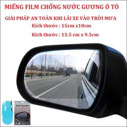 Bộ 4 miếng dán chống bám nước gương chiếu hậu ô tô kích thước 15x10cm [BF]