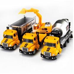 Bộ 3 mô hình xe kim loại sắt chủ đề xe công trường
