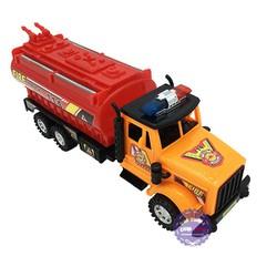 Đồ chơi xe bồn cứu hỏa 6 bánh bằng nhựa chạy trớn 6006A