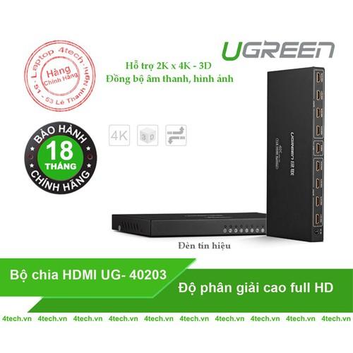 Bộ chia HDMI 1 vào 8 ra hỗ trợ video 12bit Full HD Ugreen 40203. - 6054220 , 12565441 , 15_12565441 , 1473000 , Bo-chia-HDMI-1-vao-8-ra-ho-tro-video-12bit-Full-HD-Ugreen-40203.-15_12565441 , sendo.vn , Bộ chia HDMI 1 vào 8 ra hỗ trợ video 12bit Full HD Ugreen 40203.