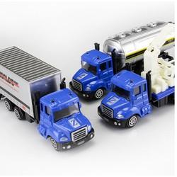 Bộ 3 mô hình cỡ lớn xe kim loại sắt chủ đề xe cảnh sát