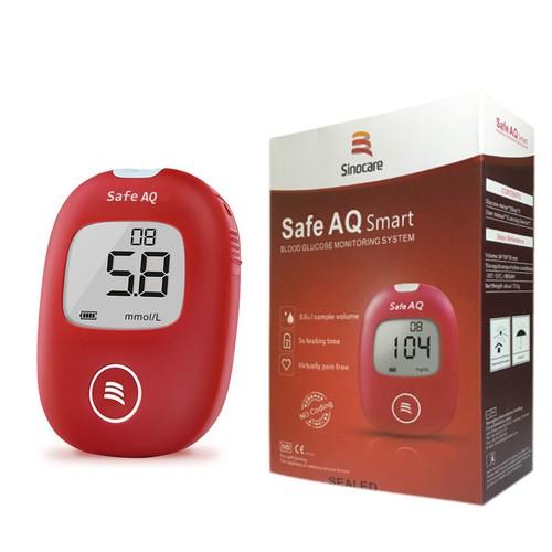 Máy đo đường huyết Safe AQ Smart Sinocare - tặng 50 que thử và 50 kim
