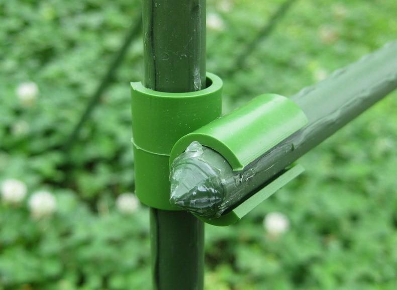 Set 2 khớp nối chữ thập ghép ống thép phi 11mm làm giàn cho cây leo 3