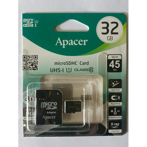 Thẻ nhớ Apacer MicroSD  32GB  Class 10 - Adapter kèm