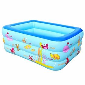 [FREE SHIP] BỂ BƠI PHAO 1.3 MÉT - TẶNG BỘ KEO VÁ - Bể bơi phao 3 tầng cho bé