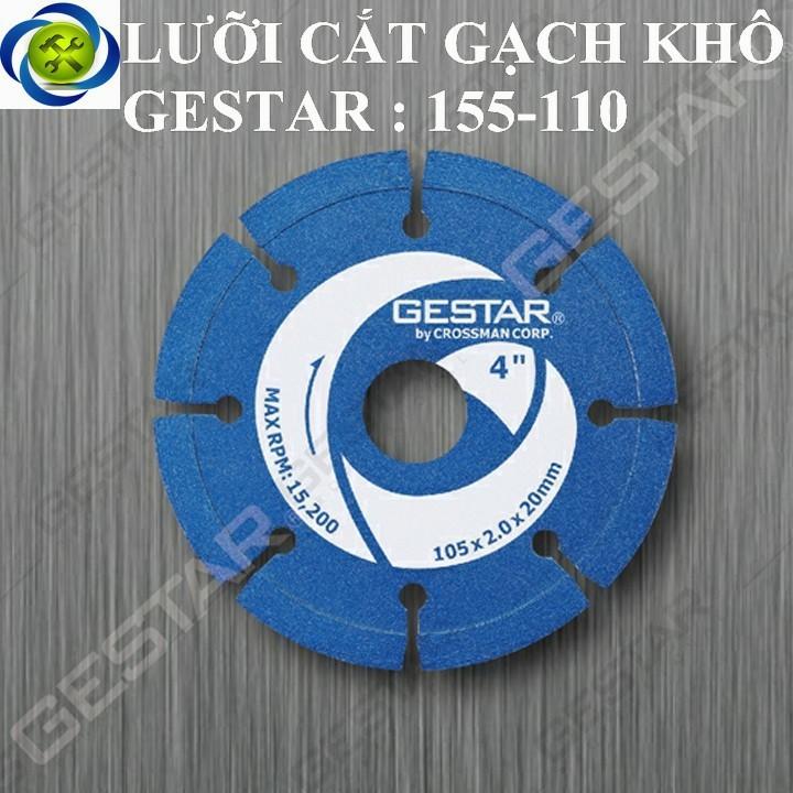 Lưỡi cắt gạch khô Gestar 155-110 xanh dương 1