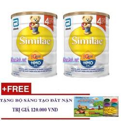 Combo 2 lon Sữa Similac IQ 4 HMO, Cho Trẻ 2-6 Tuổi, 900g