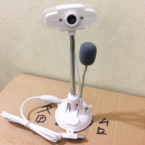 Webcam Chân Cao Có Mic Usb 2.0 Màu Trắng