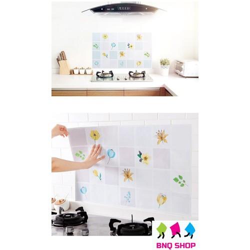 Miếng Giấy trang trí tráng nhôm dán tường nhà bếp