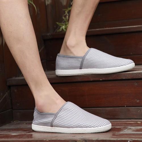Giày lười vải nam - 2 màu nâu, ghi - G75