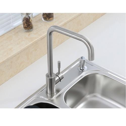 Vòi rửa bát nóng lạnh cần cứng inox 304-Vòi Rửa Bát, Vòi Bếp SUS 304