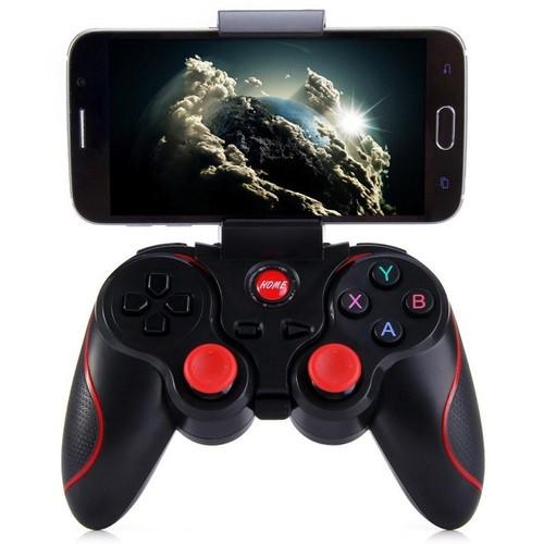 tay cầm chơi game Bluetooth + Tặng giá đỡ điện thoại