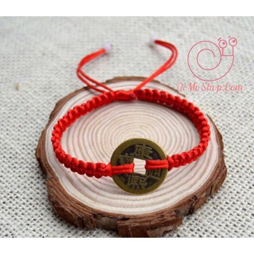Vòng tay dây chỉ đỏ handmade Đồng Tiền may mắn phong thủy - 10751903 , 11008316 , 15_11008316 , 35000 , Vong-tay-day-chi-do-handmade-Dong-Tien-may-man-phong-thuy-15_11008316 , sendo.vn , Vòng tay dây chỉ đỏ handmade Đồng Tiền may mắn phong thủy
