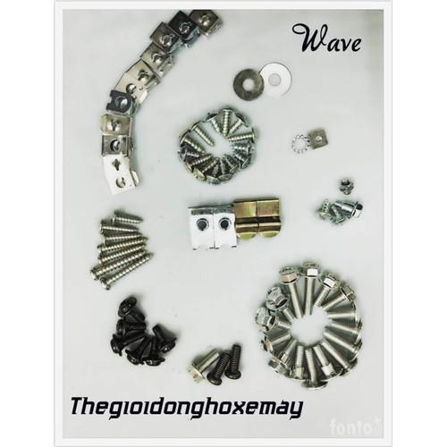 Bộ ốc vỏ nhựa xe máy wave nhỏ wave 110 wave TQ