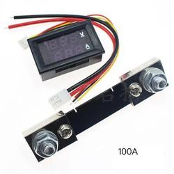 Đồng hồ đo áp và dòng 100VDC - 100A và điện trổ shunt