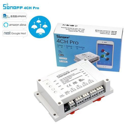 Công tắc thông minh Sonoff 4ch Pro 4 kênh điều khiển từ xa
