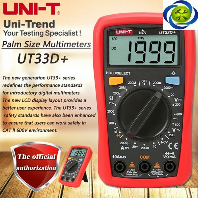 Đồng hồ đo điện UNI-T UT33D+ 5