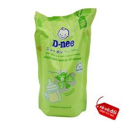 Nước rửa bình đựng sữa D-nee Organic [mẫu mới] túi 600ml - Thái Lan - Dnee nuoc rua binh