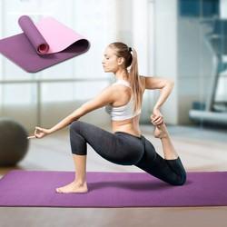 Thảm tập yoga TPE 2 lớp siêu bền siêu nhẹ 6mm