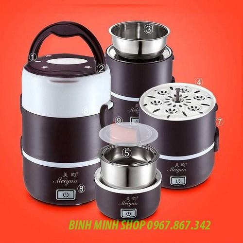 Hộp đựng cơm hâm nóng cắm điện inox 3 tầng Meiyun - Miễn ship - 5583470 , 12001479 , 15_12001479 , 260000 , Hop-dung-com-ham-nong-cam-dien-inox-3-tang-Meiyun-Mien-ship-15_12001479 , sendo.vn , Hộp đựng cơm hâm nóng cắm điện inox 3 tầng Meiyun - Miễn ship