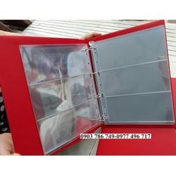 Combo 1 bìa  album sưu tập và 10 phơi 3 ngăn trong