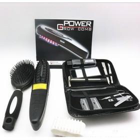 Lược massage kích thích mọc tóc kèm bộ dụng cụ chăm sóc tóc - Best Seller Tony - lược massage-AD